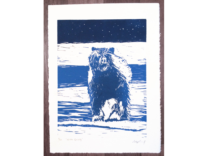 midnight blue grizzly bear