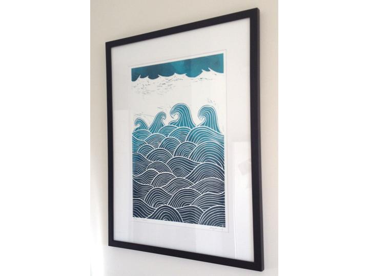 waves hanging