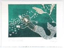 mermaid underwater jellyfish