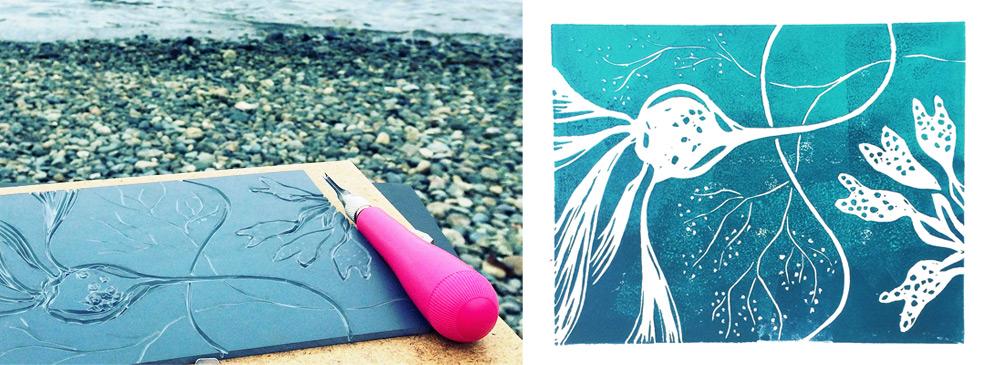 kelp seaweed art