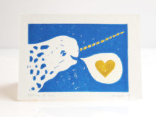 narwhal love card