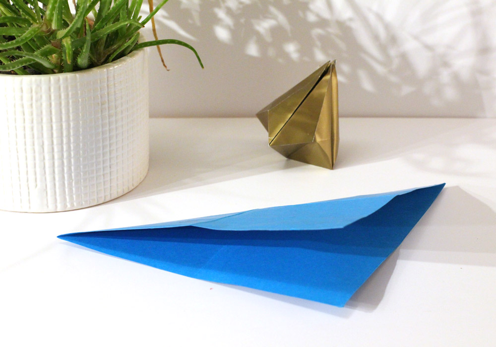 folded paper bell step 3