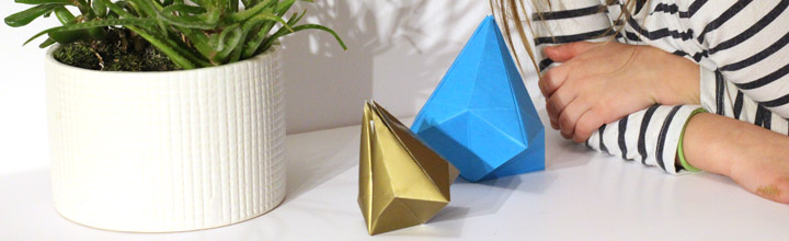 How to make a folded paper bell decoration