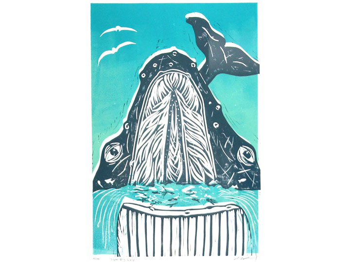 super big gulp baleen whale print