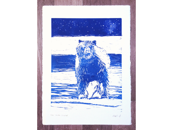 blue grizzly bear