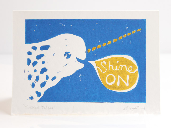 narwhal shine on card