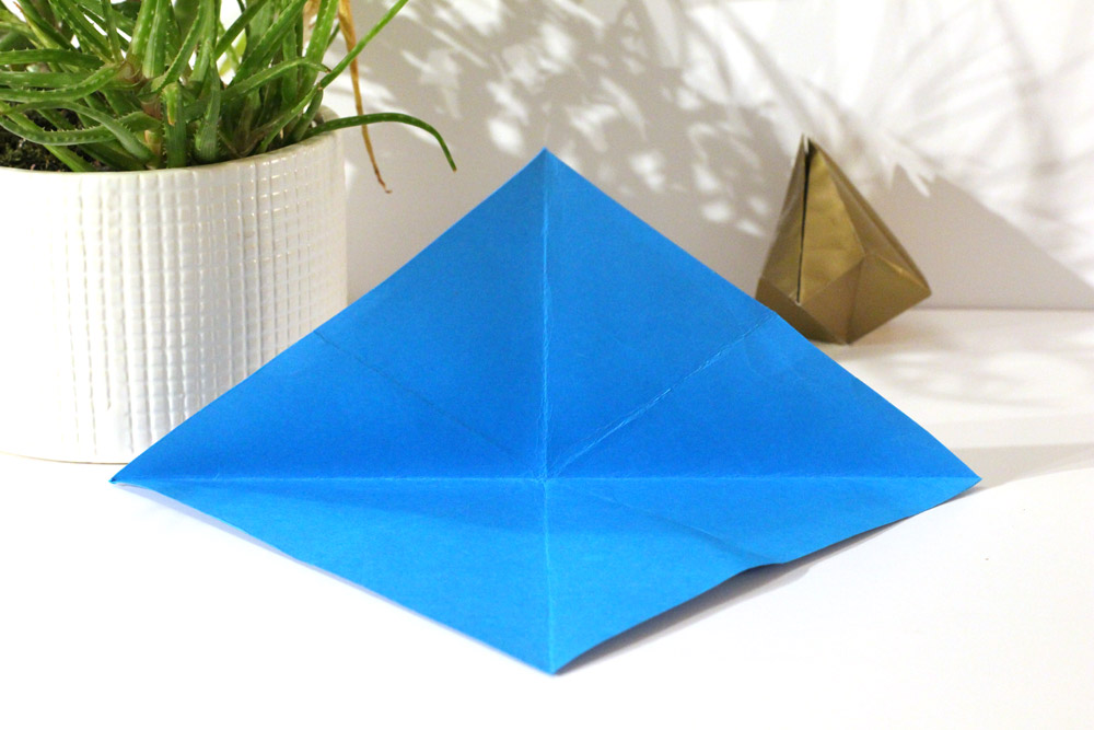 folded paper bell step 4