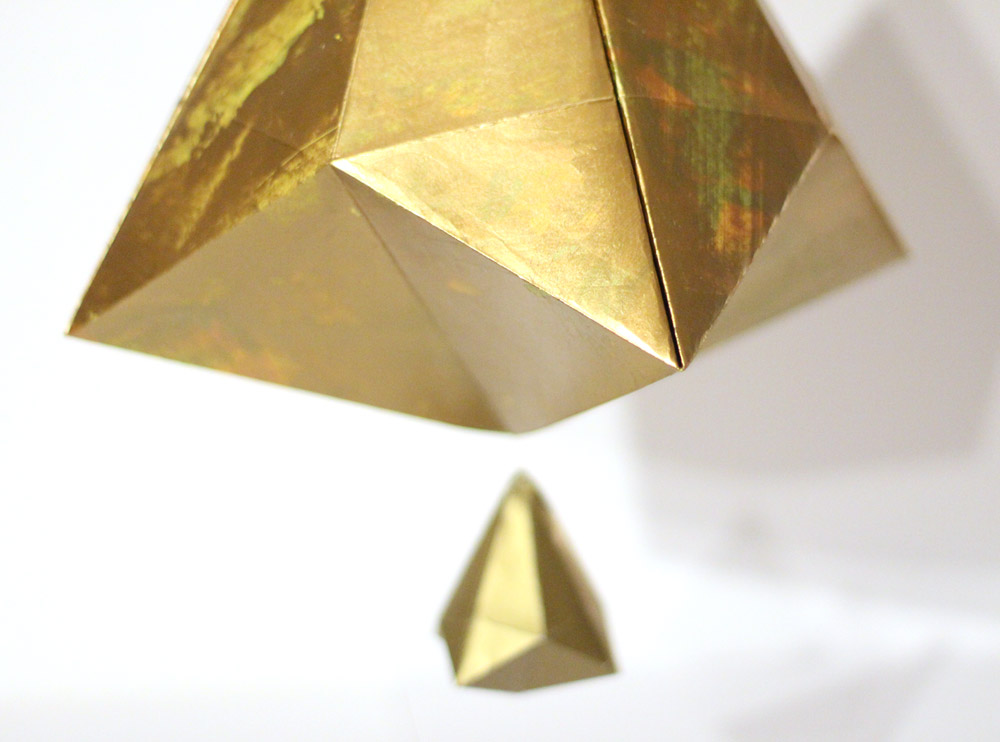 gold paper bell detail
