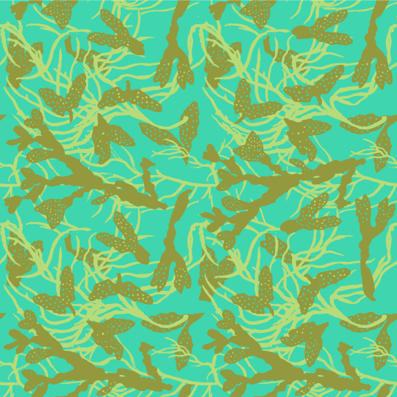 seaweed mingling westcoast fabric design